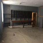 Film Room with original shelf unit