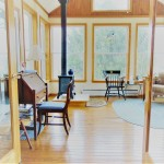 Sunroom with Wood Stove, Access to Deck
