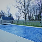 In-ground Pool with Heat Pump, Retractable Cover