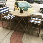 Outdoor Seating Opportunity  with a direct view of the Courthouse Lawn. Perfect for Food Truck Fridays, Farmer's Market, Street Fest, Great Location, Any Business to Suit