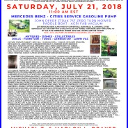PUBLIC AUCTION – Saturday, July 2, 2018 at 11 AM, Pine Village, Indiana
