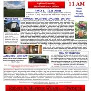PUBLIC AUCTION Saturday October 19, 2019  11:00 AM E.S.T.