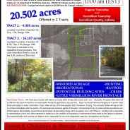 LAND AUCTION! SATURDAY – DECEMBER 21, 2019 11am E.S.T.