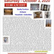 Saturday, October 3, 2020 PUBLIC AUCTION