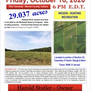 Friday, October 16, 2020 @ 6pm EDT LAND AUCTION