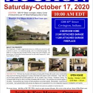 Saturday, October 17, 2020 @ 10:00 am EDT REAL ESTATE AUCTION