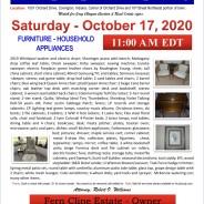 OCTOBER 17, 2020 @ 11:00 am EDT ESTATE AUCTION