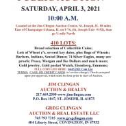 PUBLIC AUCTION Saturday, April 3, 2021