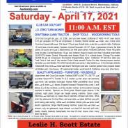 Estate Auction – Saturday –  April 17, 2021