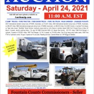 PUBLIC AUCTION-Saturday-April 24, 2021 @11:00am EST