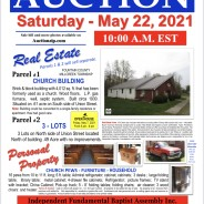 Public Auction May 22, 2021 at 10:00 am