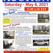 Estate Auction – Saturday – May 8, 2021