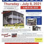 Public Auction – Thursday – July 8, 2021 @ 6:00 P.M. EST