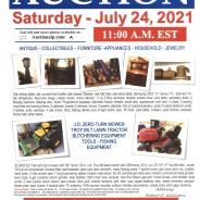 Public Auction – Saturday – July 24, 2021@ 11:00 am EST