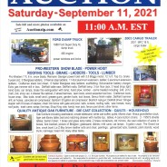 ESTATE AUCTION on Saturday – September 11, 2021  @ 11:00 am E.S.T.