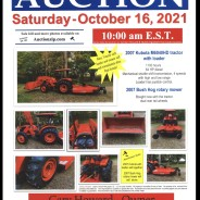 AUCTION – Saturday, October 16, 2021 Same date & location as Carolyn Howard & Quella Ingraham Real Estate Auction.